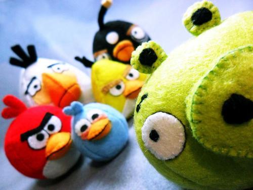 Handmade Angry Birds Plush Toy