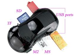Racing Car USB Hub with Card Reader