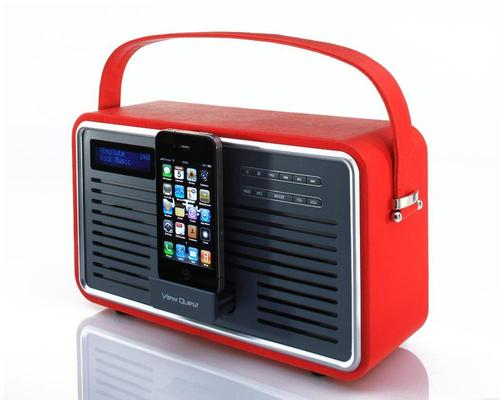 View Quest Retro DAB Radio and Dock Speaker for iPhone and iPod