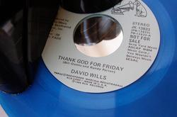 Handmade Recycled Vinyl Record Desk Organizer