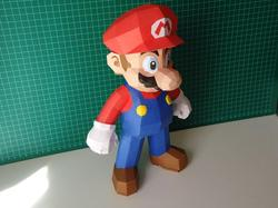 Make Your Own Super Mario Paper Craft
