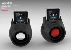 WALdok Wall Plug-In Dock Speaker for iPod Nano
