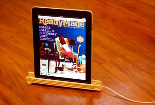 Eco-friendly iPad Stand Made of Chopsticks