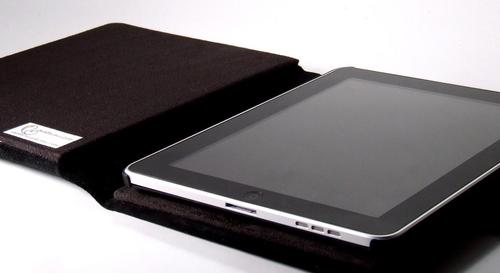 Handmade iPad Leather Case with Army Concho Snap Cover
