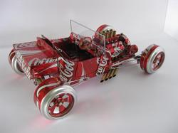Handmade Model Cars Built with Recycled Cans