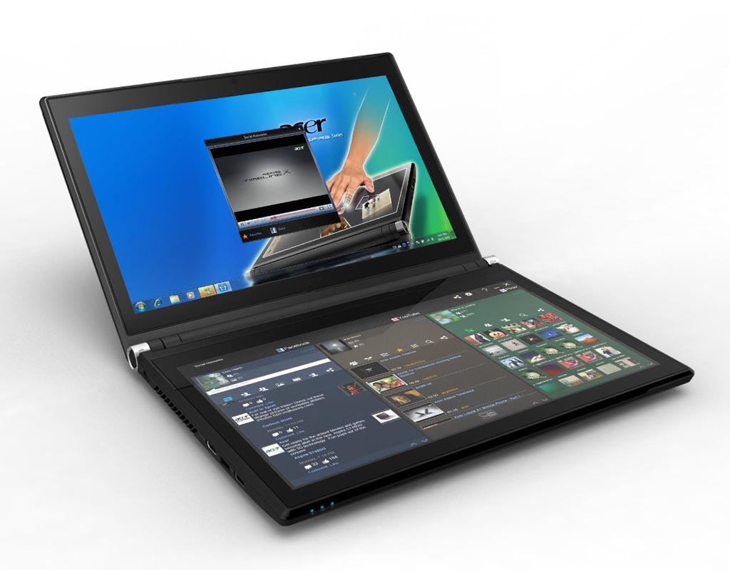 ... laptops? You might like to try the innovative notebook Acer Iconia