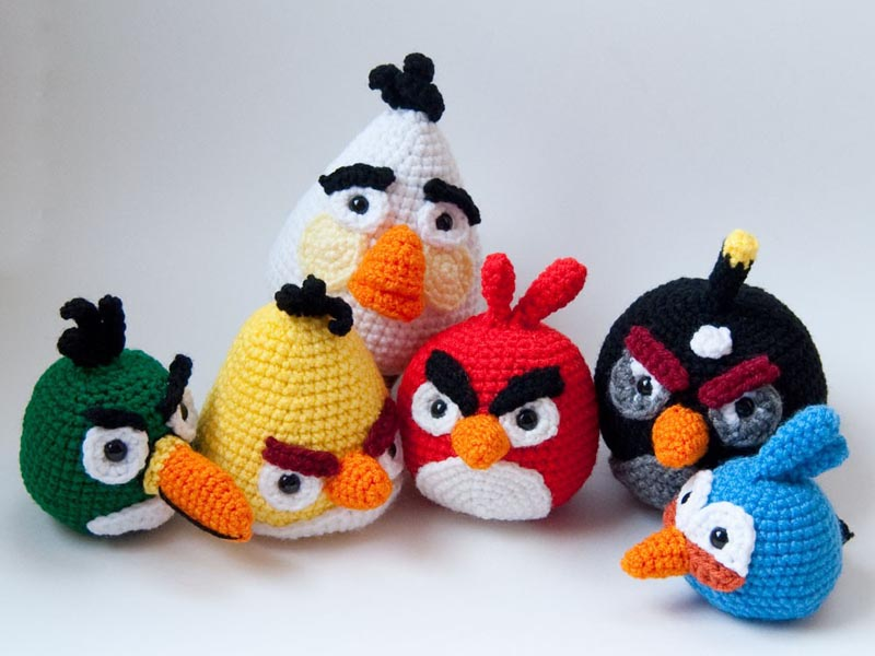 set of Angry Birds crochet patterns should be more suitable for you