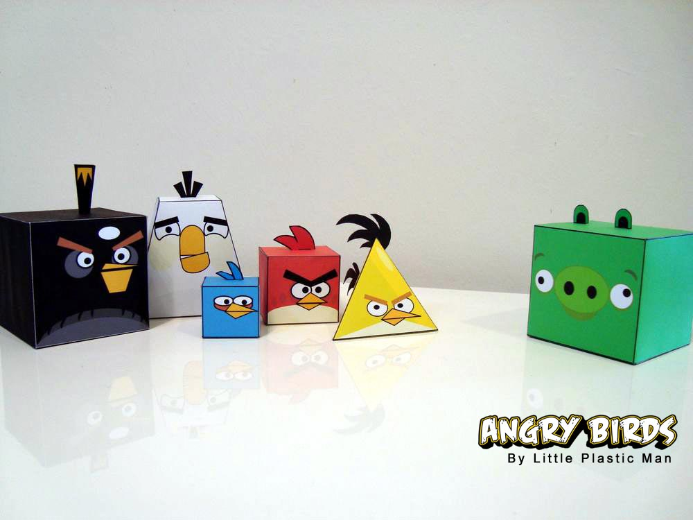 ... own Angry Birds, let's go on checking the Angry Birds paper crafts