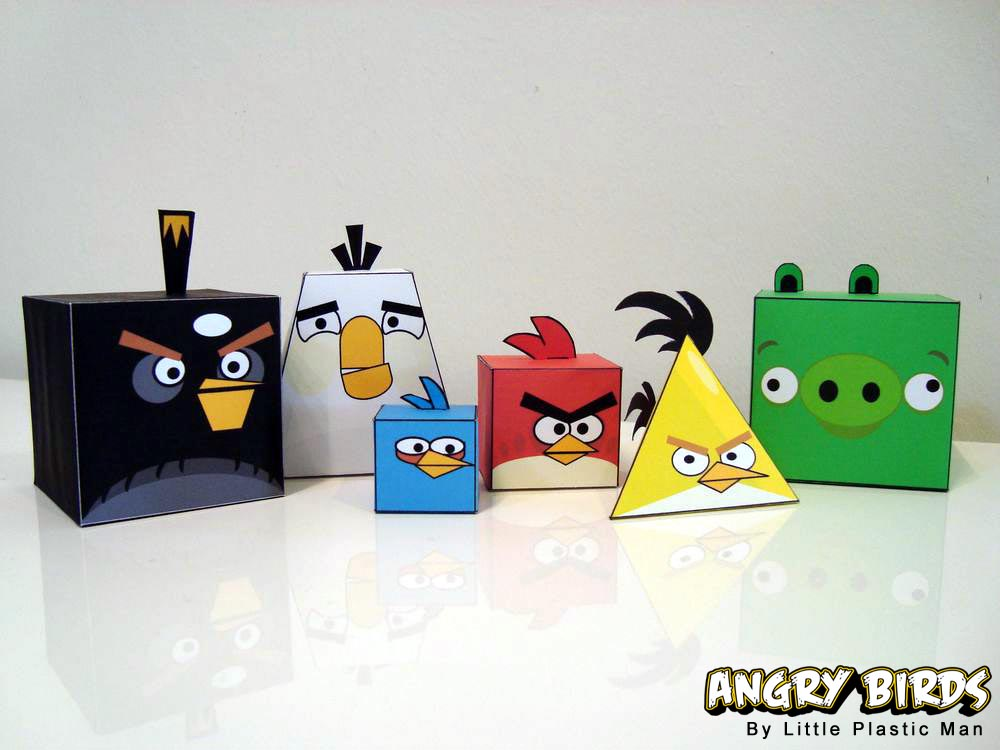 Angry Birds Paper Crafts  Gadgetsin