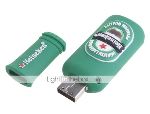 Classical Heineken Beer Bottle USB Flash Drive