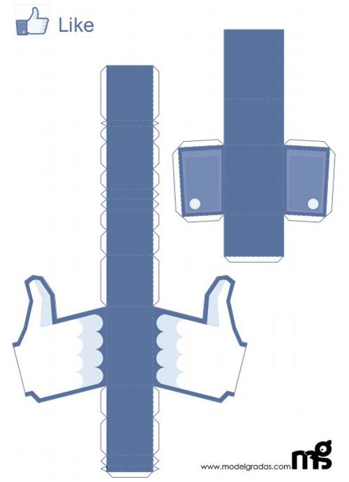 Facebook Like Button Paper Craft