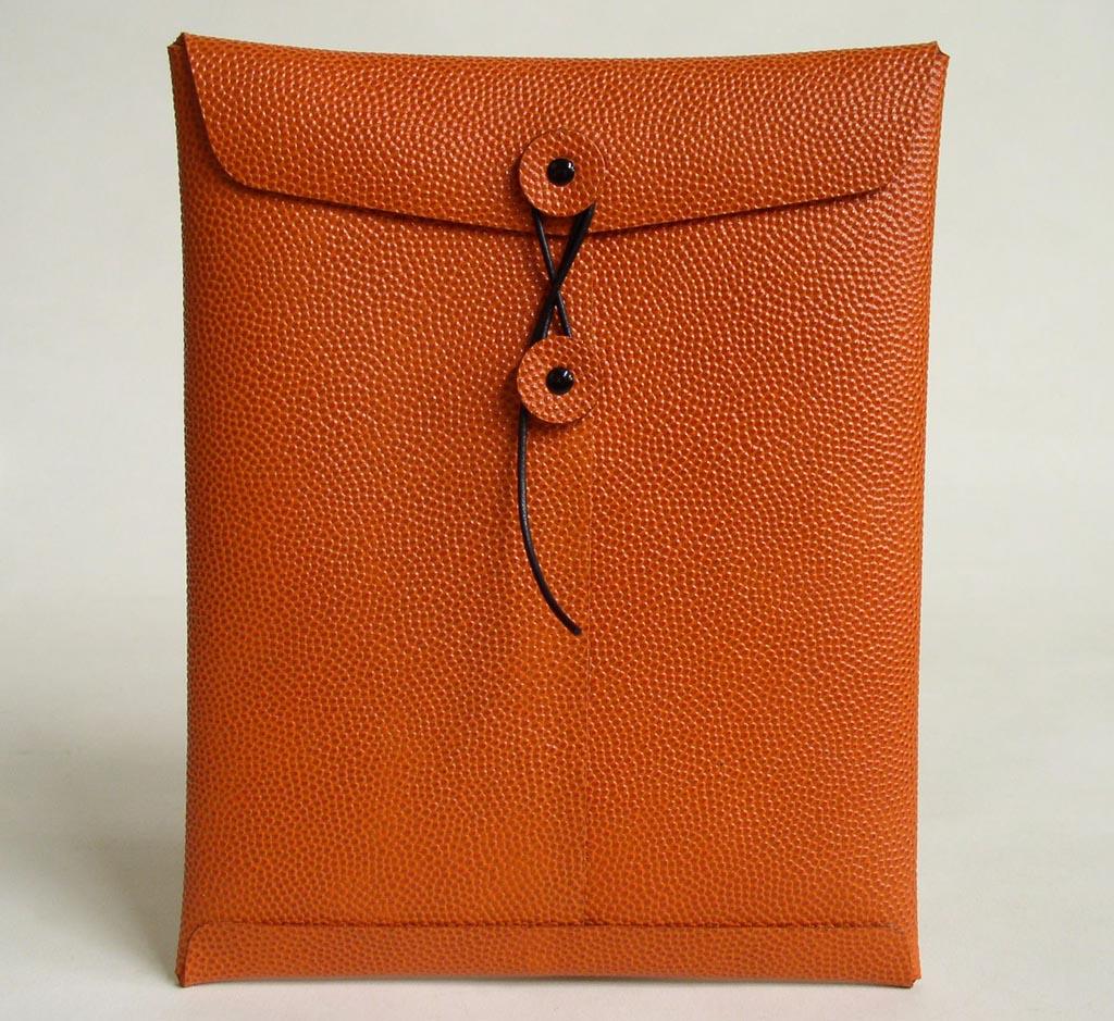Handmade Genuine Basketball Leather iPad Case   Gadgetsin