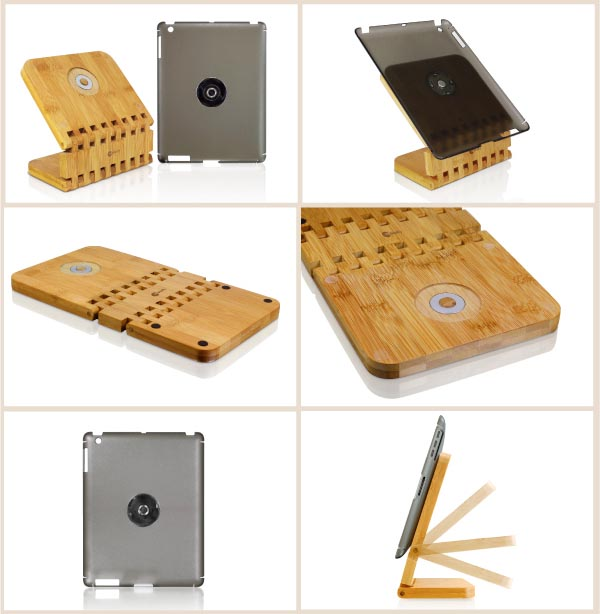 Multi Functional Ecostand Bamboo iPad 2 Stand