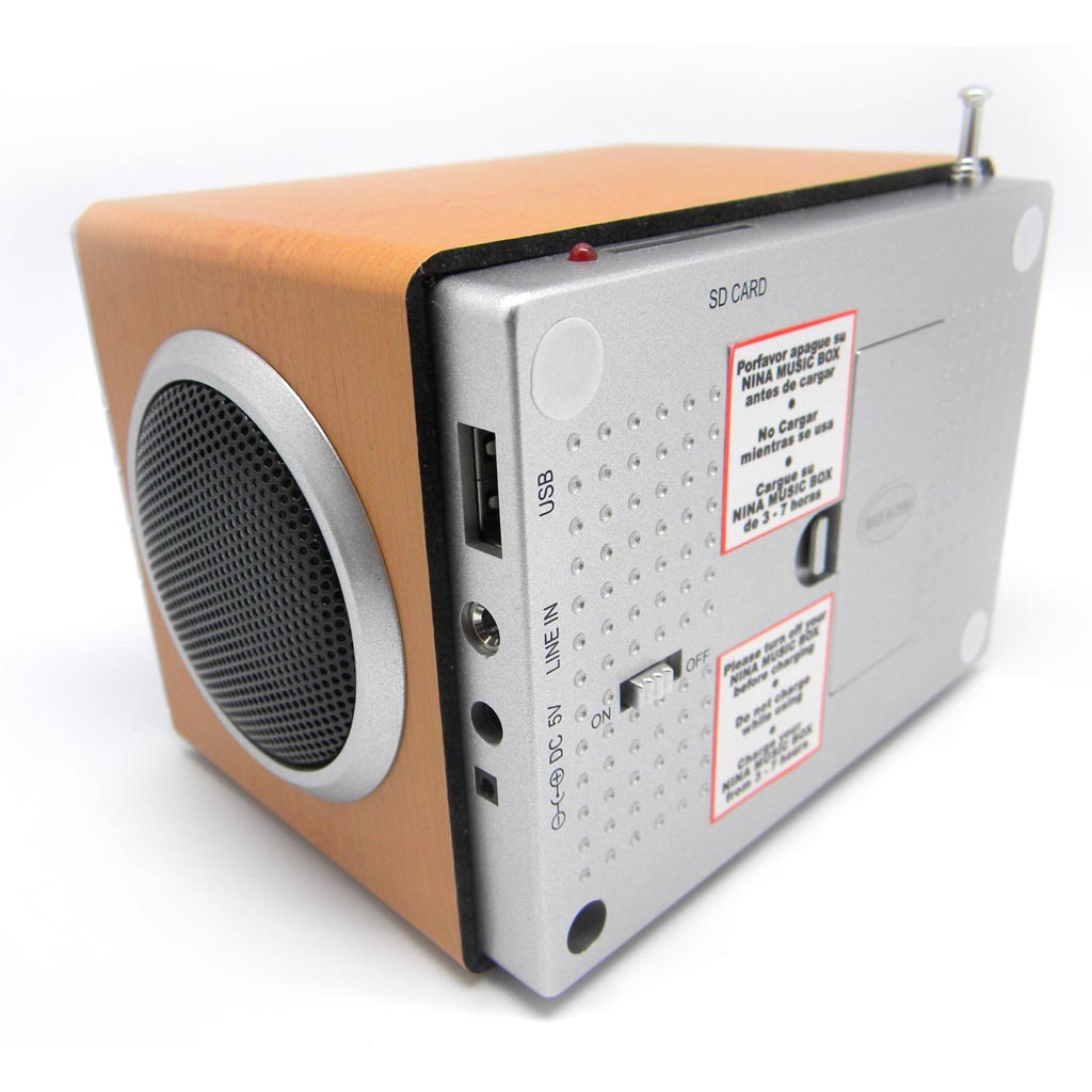Nina Portable Mp3 Player With Speaker Fm Radio And Alarm