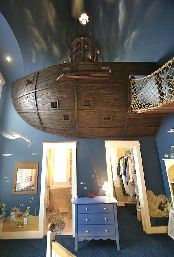 Pirate Ship Bedroom | Gadgetsin