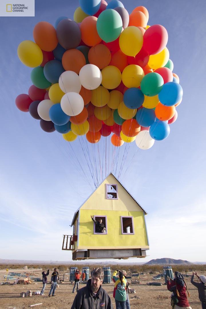 Pixar animated film up inspired floating house gadgetsin