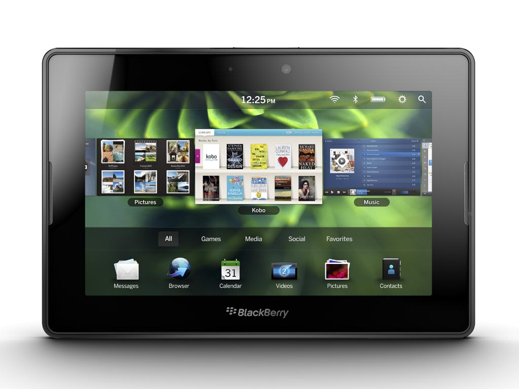 tablet running BlackBerry Tablet OS with symmetric multiprocessing