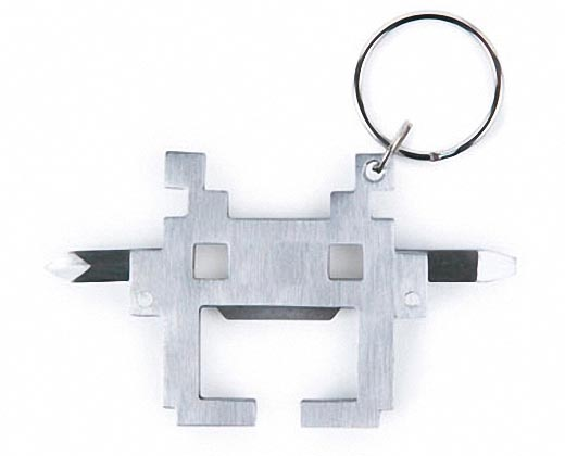 Space Invaders Styled Keychain