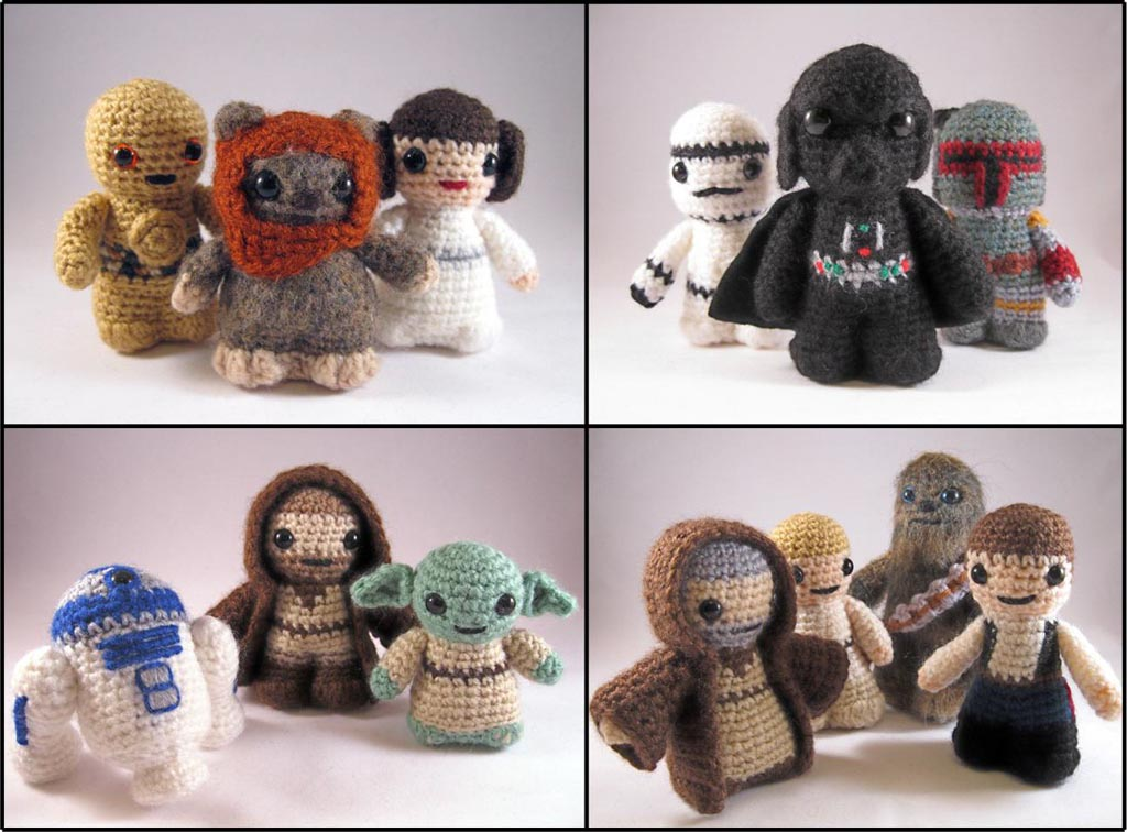 Amigurumi Snowman Pattern : Star Wars Mini Amigurumi Patterns Gadgetsin