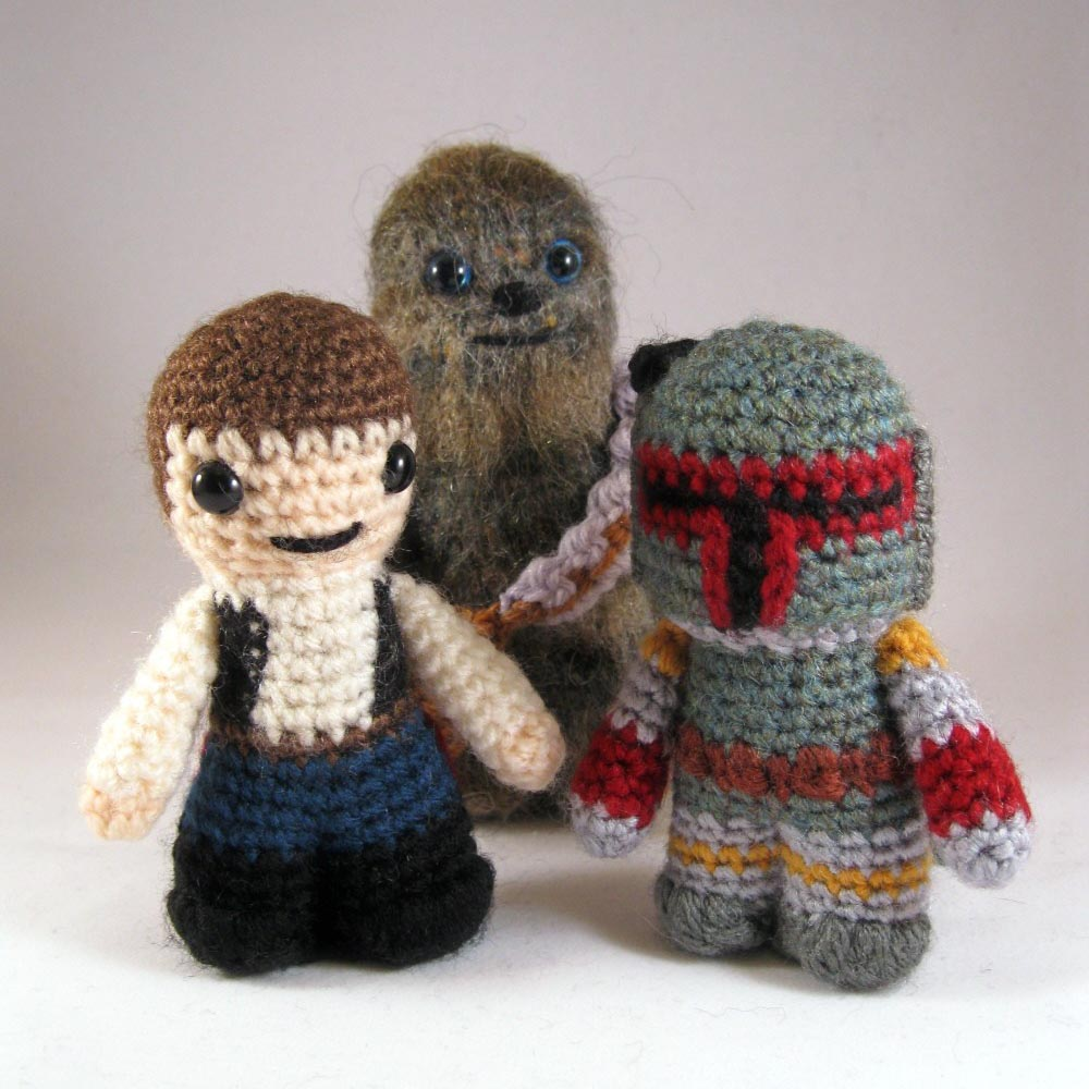 Crochet Patterns Star Wars : The 12-set of Star Wars mini Amigurumi patterns is priced at $31.5 USD ...