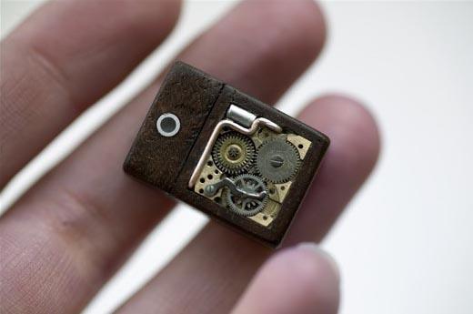 Steampunk USB Flash Drive Cufflinks