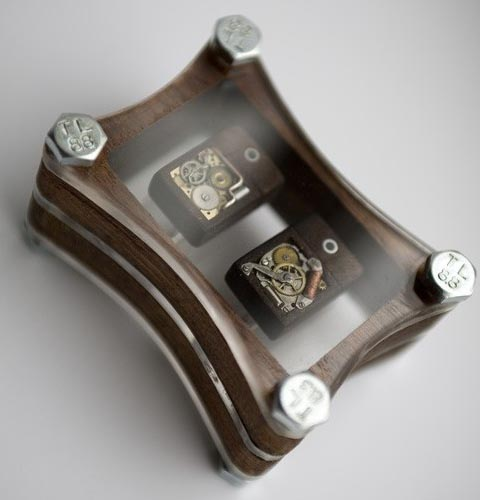Steampunk USB Flash Drive Cufflinks