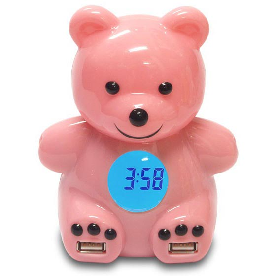 Teddy Bear 4-Port USB Hub