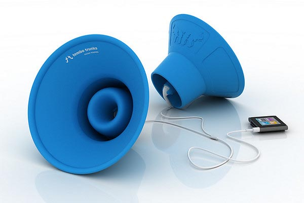 Tembo Trunks Amplify iPod Music from Your Earbuds