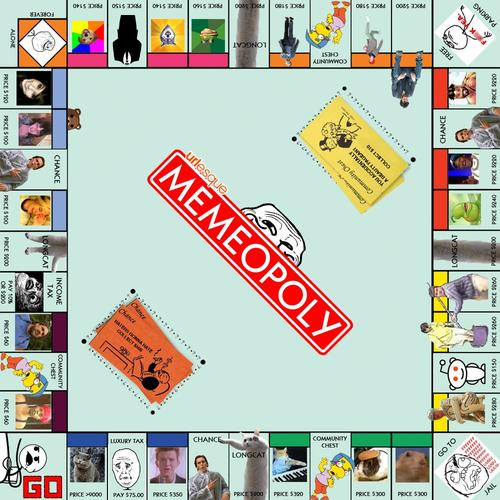 Memeopoly Internet Themed Monopoly Board Game