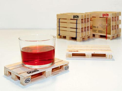 Flat Pallet Styled Coaster Set