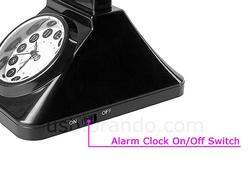 Retro Telephone Styled USB LED Lamp with Alarm Clock