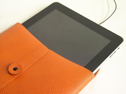 Handmade Genuine Basketball Leather iPad Case