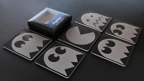 PacMat Pacman Themed Drink Coaster Set
