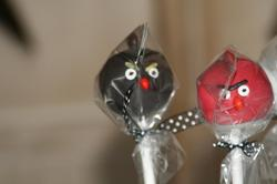 Angry Birds Themed Cake Pops