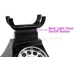 Retro Telephone Styled USB LED Lamp with Alarm Clock