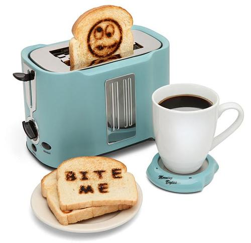 Pop Art Toaster with USB Cup Warmer