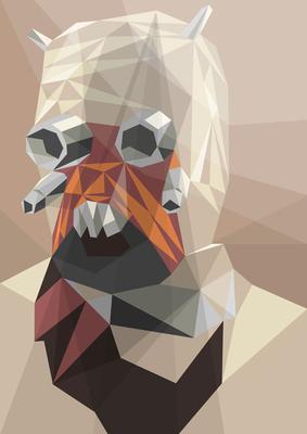 Star Wars Stroke Abstract Art