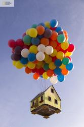 Pixar Animated Film UP Inspired Floating House