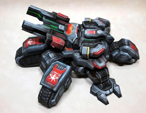 StarCraft 2 Siege Tank Paper Craft