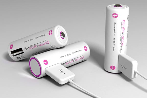 Continuance Rechargeable Battery with USB Port