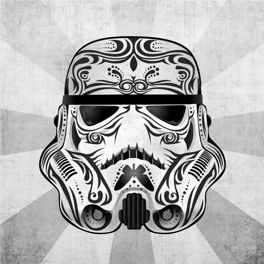 Mexican Traditional Skull Styled Star Wars Prints Gadgetsin