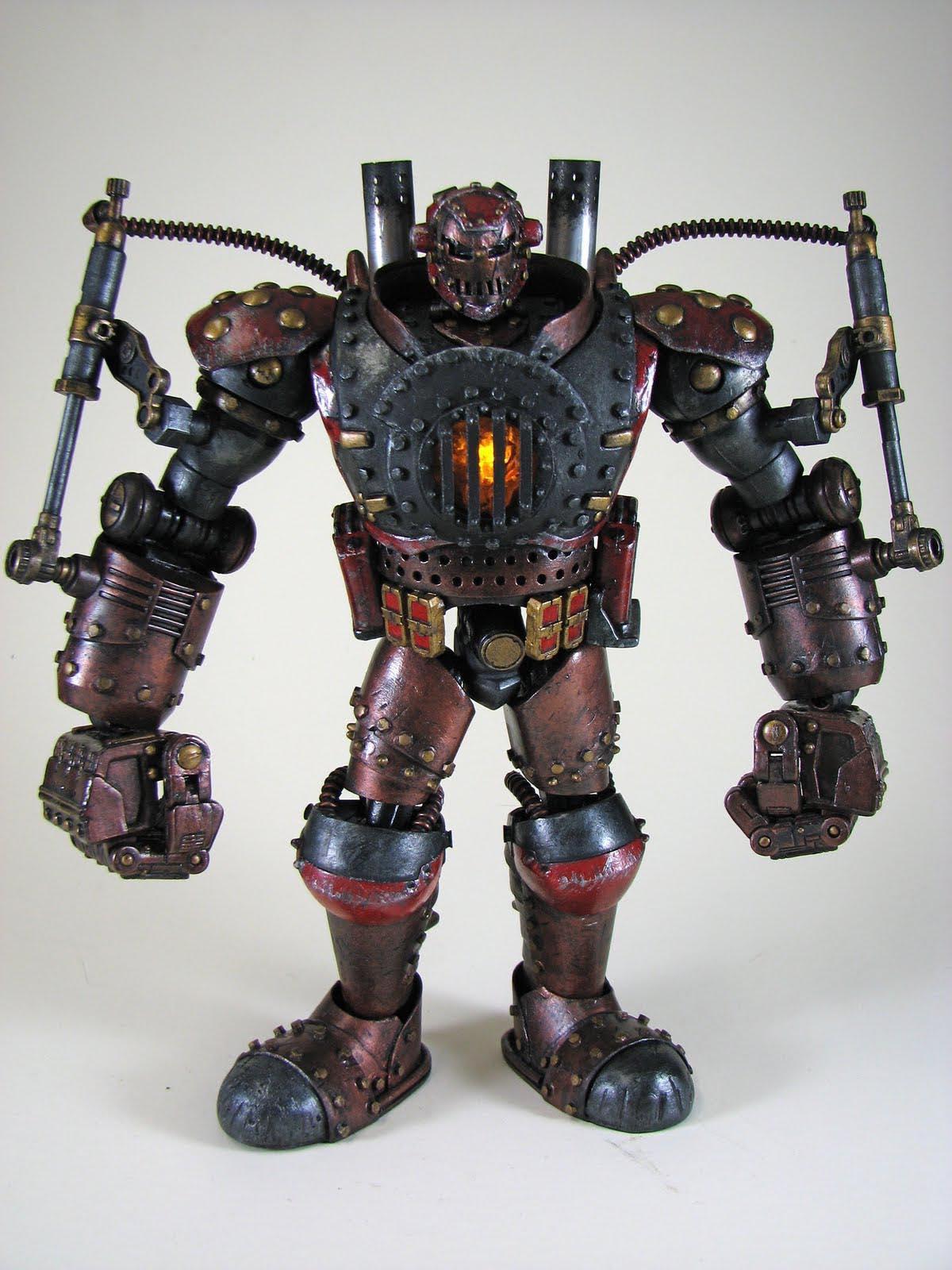 Steampunk Iron Man Custom Action Figure Gadgetsin