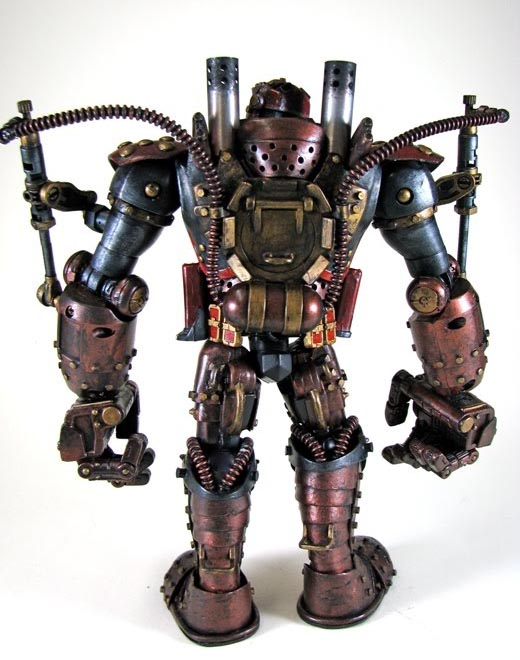 Steampunk Iron Man Custom Action Figure Gadgetsin