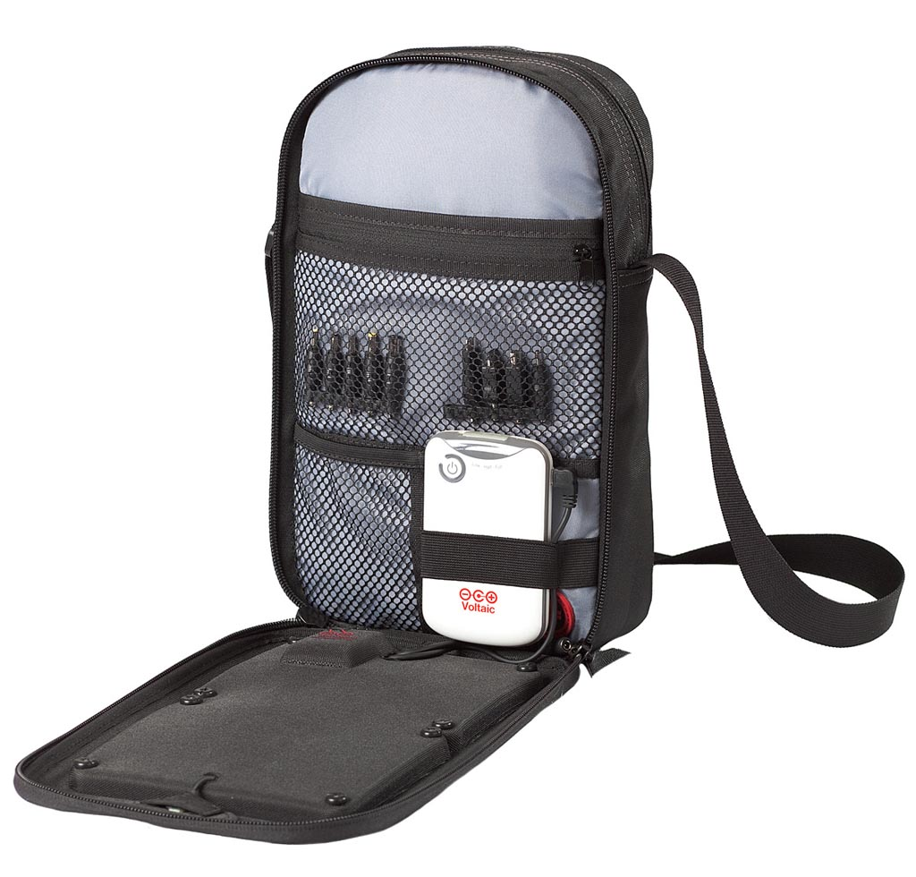 Voltaic System Switch Sling Bag With Solar Charger Gadgetsin