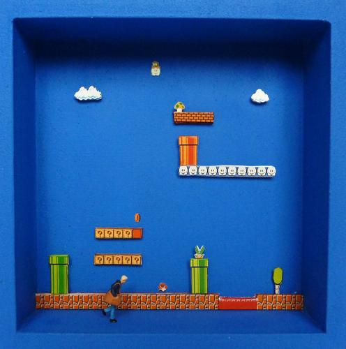 Miniature Super Mario Themed Box Art