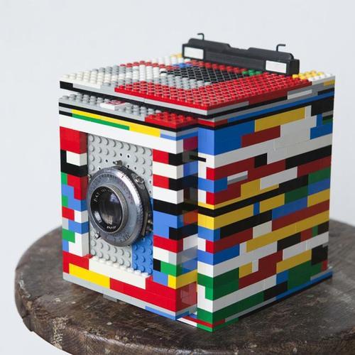 Homemade LEGO 4x5 Camera Legotron Mark I