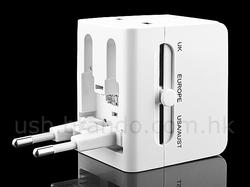 Practical Universal Travel Adapter with USB Charger