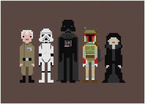 Pixel People Star Wars Cross Stitch Patterns