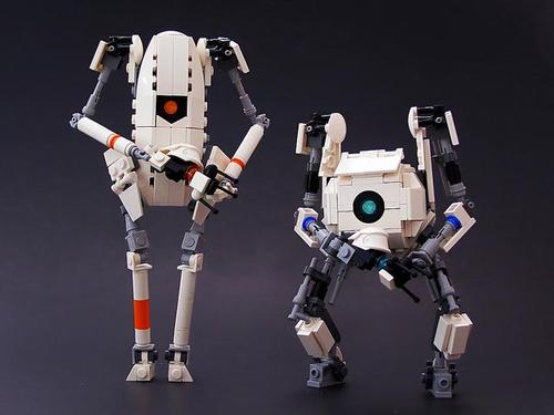 LEGO ATLAS, P-Body and Turrets from Portal 2