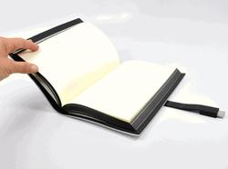 Pinetti Quattrogiga Leather Journal with USB Flash Drive